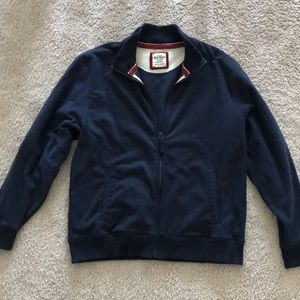 Men's fleece ole navy full zip with collar XL